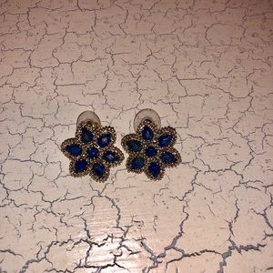 Lapis and gold Kendra Scott earrings